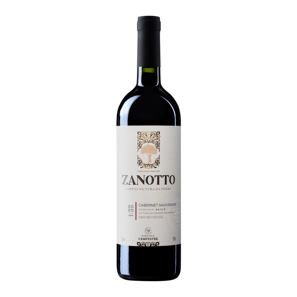 Vinho Fino Tinto Seco Cabernet Sauvignon Zanotto - 750 ml