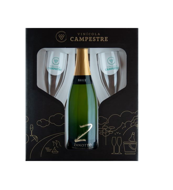 Kit Espumante Brut Zanotto 750 ml