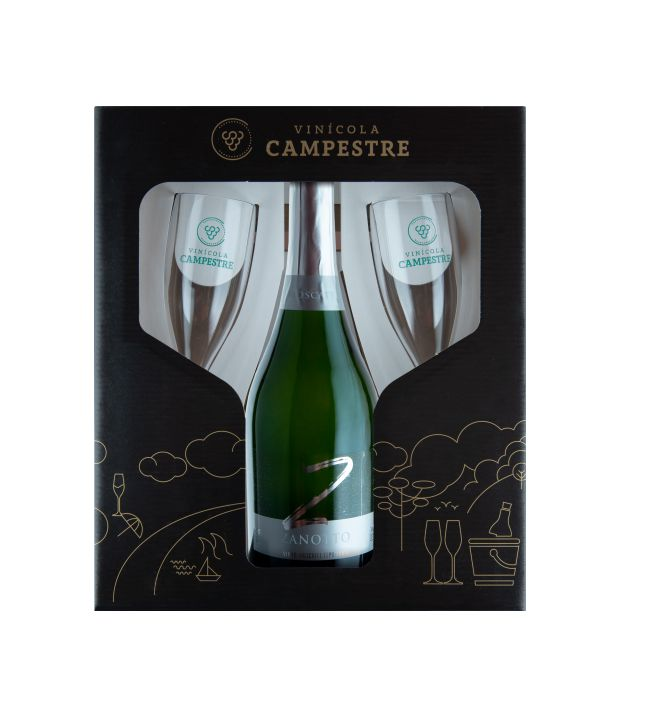 Kit Espumante Moscatel Zanotto 750 ml
